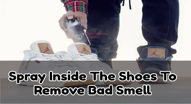 Spray onto the inside soles of your smelly shoe and