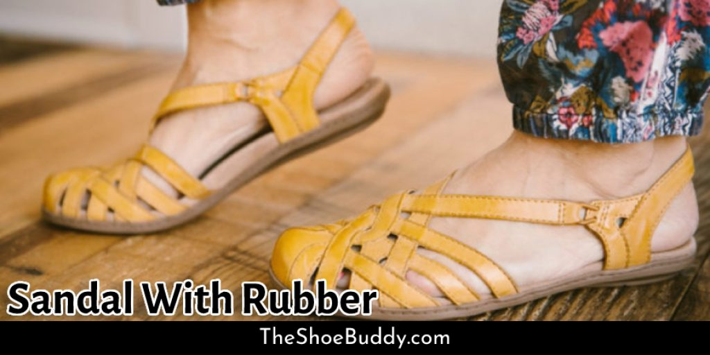Sandal With Rubber